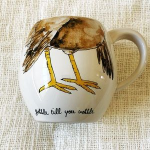 Rae Dunn Thanksgiving Mug - Gobble till you wobble